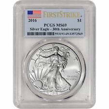 2016 1 Troy Oz American Silver Eagle PCGS MS69 FIRST STRIKE 30th Anniversary