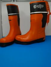 VIKING VW64-1 Rubber Boot Unisex Size 12 Over Knee Orange