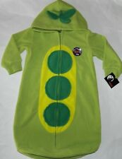 Nwt Peapod Infant Sleeper Outfit Costume One Size 0-9 Months Baby Halloween Peas