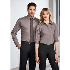 10x BIZ COLLECTION Mens Chevron Long Sleeve Shirt S122ML LEISURE/CORPORATE MENS