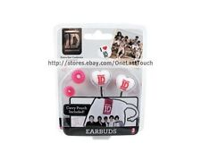 ONE DIRECTION Set HEART SHAPE Earphones/Buds+Cushions+Carry Bag 1D 1B WHITE