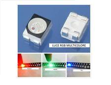 10X LED SMD 3528 RGB luce MULTICOLORE Alta luminosità 6500K 0,2W diodi  PLCC