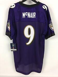NWT NOS Kids STEVE McNAIR Baltimore Ravens PURPLE Reebok Authentic Jesey - XL