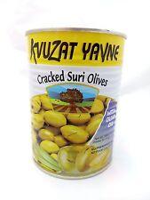 Cracked Suri Green Olives With Olive Oil Kosher From Israel 340gr (12 oz)