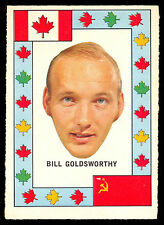 1972 73 OPC O PEE CHEE TEAM CANADA BILL GOLDSWORTHY NM VS RUSSIA HOCKEY SERIES