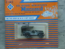 Roco / Herpa Minitanks (NEW) WWII US M-38 A1 Willys Jeep W/Canopy Lot 228K