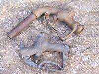 Vintage Smoothflo & Buckeye Brass Gas Pump Nozzle Bennet Gilbert Service Station