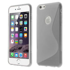 TPU Gel Case Cover S-Line Sline Wave For iPhone 6 Plus, 6S Plus w/ Screen Film