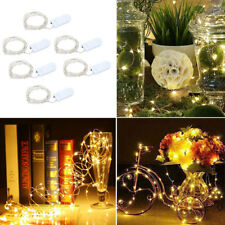 6x 20 LED Battery Copper Wire String Fairy Lights Warm White Wedding Party Light