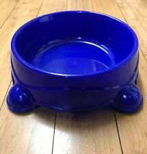Bright Blue Animal Pet Food Bowl Dogs, Puppy, Cats, Non-Skid Round Deep 2 QT !