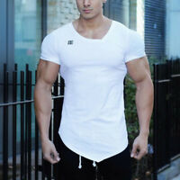 2018 Gym Stringer T-shirt Man Bodybuilding And Fitness Sportswear men Tee