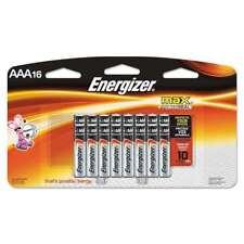 Energizer® MAX Alkaline Batteries, AAA, 16 Batteries/Pack