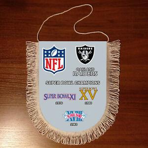Pennants Oakland Raiders SUPER BOWL CHAMPIONS NFL USA 1966-2020