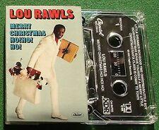 Lou Rawls Merry Christmas Ho Ho Ho inc Little Drummer Boy + Cassette Tape TESTED
