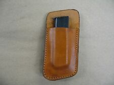Colt 1903 380 Leather Clip On OWB Belt Magazine Mag pouch CCW - TAN USA