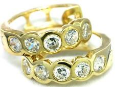1.0ct Sparkling 9K 9ct 375 Solid Gold Hoop Classic Earrings - 30 Day Returns
