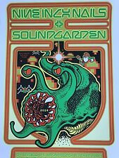 2014 Soundgarden Nine Inch Nails Concert Tour Poster Ames Brothers #/115 S/N