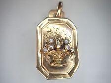 Pendentif ancien  ouvrant  or 18 carats  750/1000ème 18k époque 1910