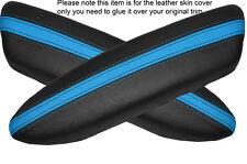 BLACK & BLUE 2x PANTHERS PORTA BRACCIOLO IN Pelle Cover Adatta per BMW Mini Cooper 04-06
