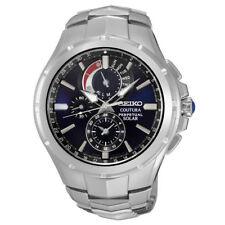 Seiko Men's SSC375 Coutura Solar Perpetual Chronograph Quartz Stainless Watch
