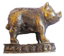 Figurine statuette cochon mystique décoration collection bronze