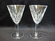 "Pair Waterford Crystal Sheila Pattern Ireland Wine Glasses, 6 1/4"" T x 3 1/4"" D"