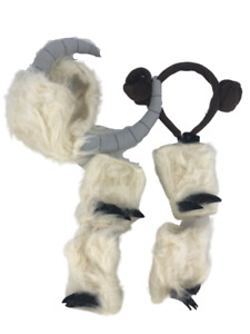 Star Wars Dog Costume Wampa + Leia Headband Horns Paws Size Large L