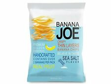 Joe Fruit Snack Crispy Thin Finest Golden Banana Chips Sea Salt Flavor  50 g