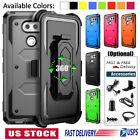 For LG V20 V30 V40 V60 G7 G8 ThinQ Clip Holster Phone Case Cover / Accessories