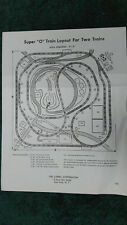 LIONEL 1786 SUPER O LAYOUT FOR TWO TRAINS INSTRUCTIONS PHOTOCOPY 8ft x 8ft