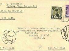 More details for egypt telegraphy ship cover *tes san leonardo* 1949 paquebot gb siemens co jj258