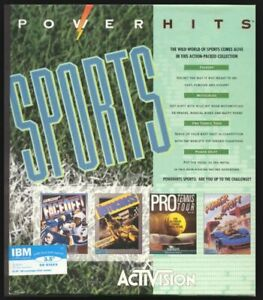 """Activision Sports Power Hits PC Games 3.5"""" IBM+New+Sealed+Ships World Wide!"""
