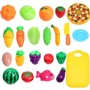 28PCS Kitchen Fruit Vegetable Food Cutting Toy Set Pretend Role Play Kids Funny