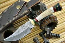 Custom Damascus Steel Hunting Knife Handmade With Stag Horn Handle (Z248)