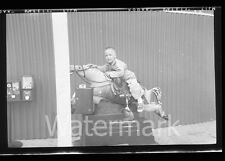 1950s Photo Negative Boy on Coin Operated Horse #2 Gumball machine