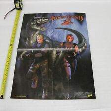 DINO CRISIS 2 / SYPHON FILTER 2 SONY PS1 GAME MAGAZINE PULLOUT POSTER