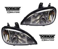 DORMAN 888-5201 & 888-5202 Headlight Headlamp Pair Set for Freightliner Columbia
