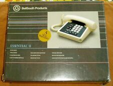 Mint Box Retro NOS 09872 Bell South Essential II Touch Tone Telephone Desk Set