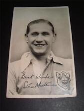 BLACKPOOL FC Legend Stan Mortensen hand signed photo carte postale
