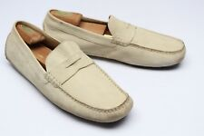 Cole Haan Mens Driving Shoes 11.5 M Beige Suede Moc Toe Penny Loafers C04537