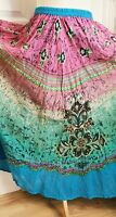 RAPP multicoloured embroidered skirt gypsy boho pagan wicca Free Size 8 10 12 14