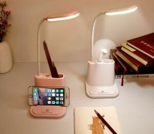 USB Rechargeable Touch Dimming Adjustments Desk Lamps Phone Holder Base Lamp New