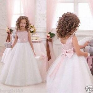 Flower Girl Dresses Communion Pageant Wedding Easter Graduation Bridesmaid Prom