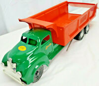 "1940s LINCOLN Hi-Dump HIGHWAYS Pressed Steel Dump Truck Toy 20""  CANADA RESTORED"