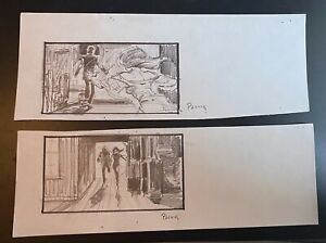 MIKE PLOOG (2) original storyboards YOUNG SHERLOCK HOLMES 1985 CONCEPT ART RUN!