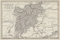 C2711 Venezia Tridentina - Carta geografica d'epoca - 1936 vintage map