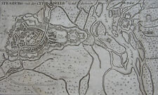 CARTE STRASBOURG CITADELLE , GABRIEL BODENEHR , ORIGINALE DE 1725