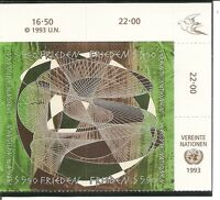 United Nations / Vienna # 155a Inscription Block Of 4, Peace Day Type. MNH
