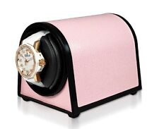 Leatherette, Rotorwind, Made In the Usa Orbita Sparta Mini Watch Winder in Pink