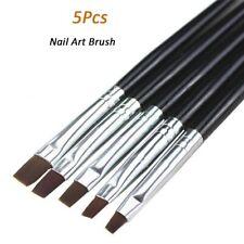 5pcs Black NAIL BRUSH SET Builder Acrylic UV Gel Nail Polish Art Painting